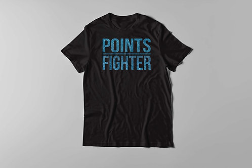 Points Fighter Tee - Glitter Blue