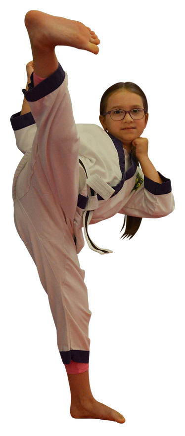 girl doing karate and kickboxing in llanelli and swansea