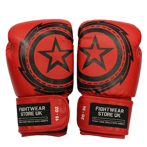 Red 10oz Pro Fighter Light Continuous Gloves
