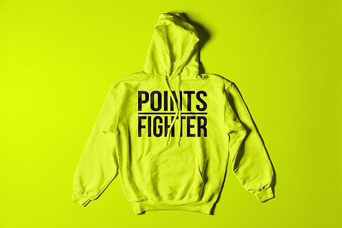 Neon Yellow Points Fighter Hoodie