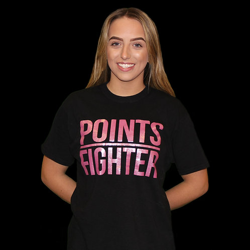 Sparkly Pink Points Fighter T-Shirt