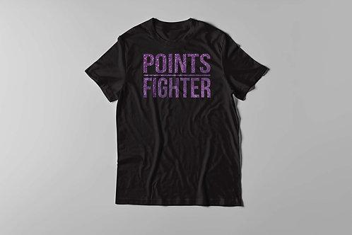 Points Fighter Tee - Glitter Purple