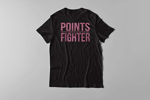 Points Fighter Tee - Glitter Rose Pink