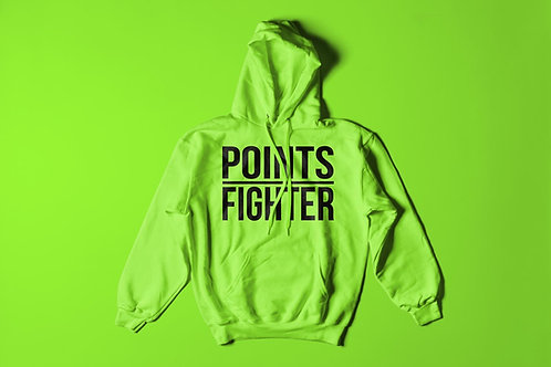 Neon Green Points Fighter Hoodie