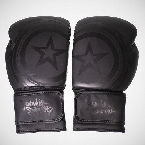 Fightwear Pro Matte Black oz Gloves- (Spot Gloss)