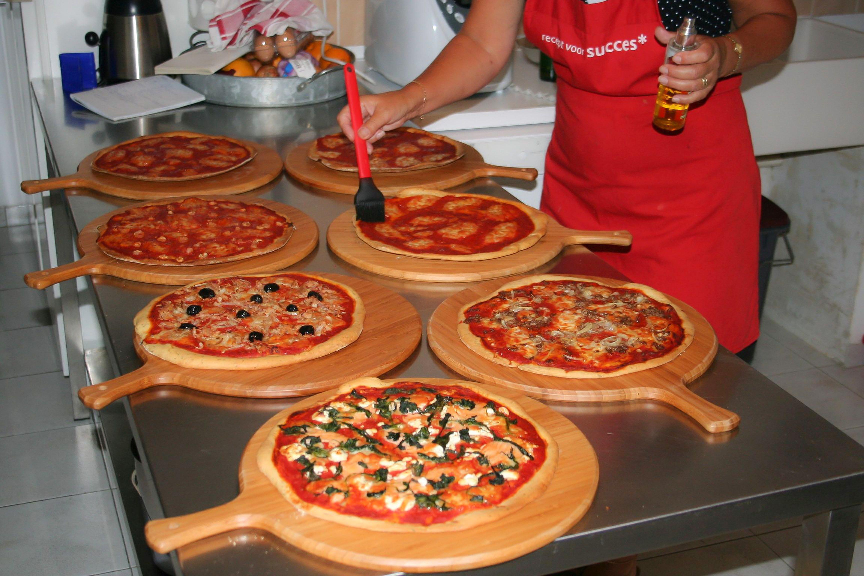 Huisgemaakte pizza's