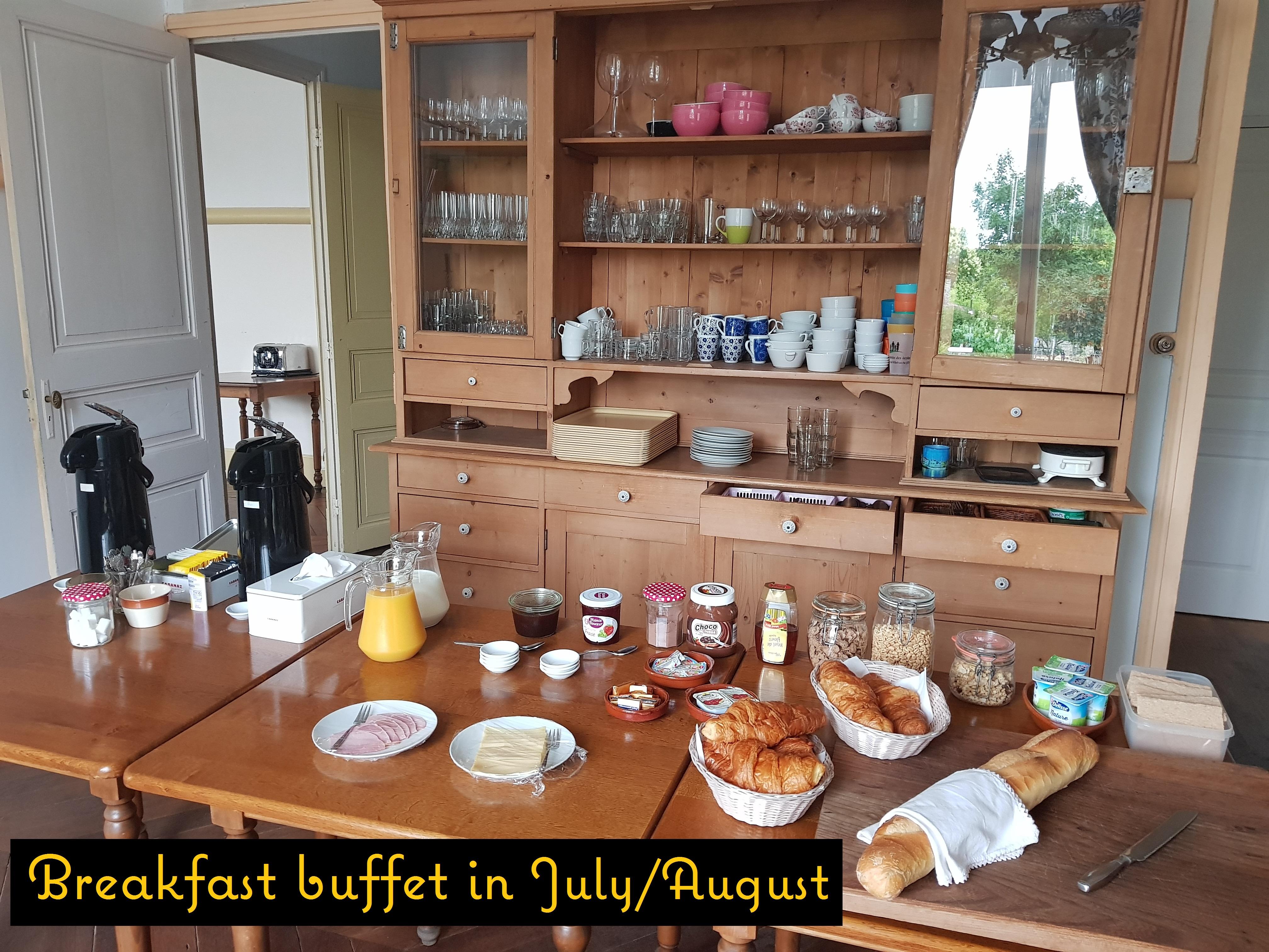 Ontbijtbuffet zomer