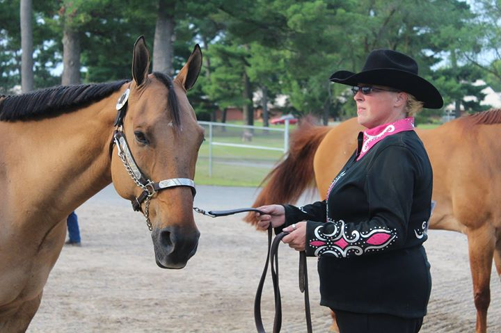 Ann Marie Grotzke and Stetson in Dun Factor