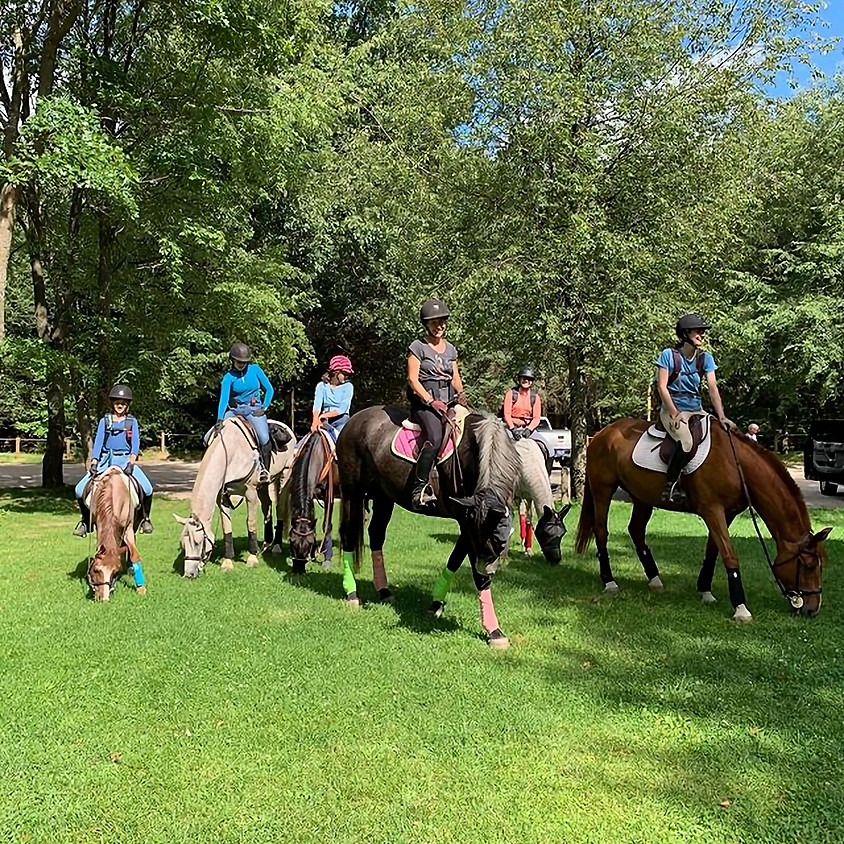 Equine Odyssey Barn Family - End of Summer Trail Ride at the Double JJ