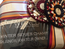 Congratulations to Dana Wille and Mach 5 on winning the Winter Circuit High Junior Jumper Championsh