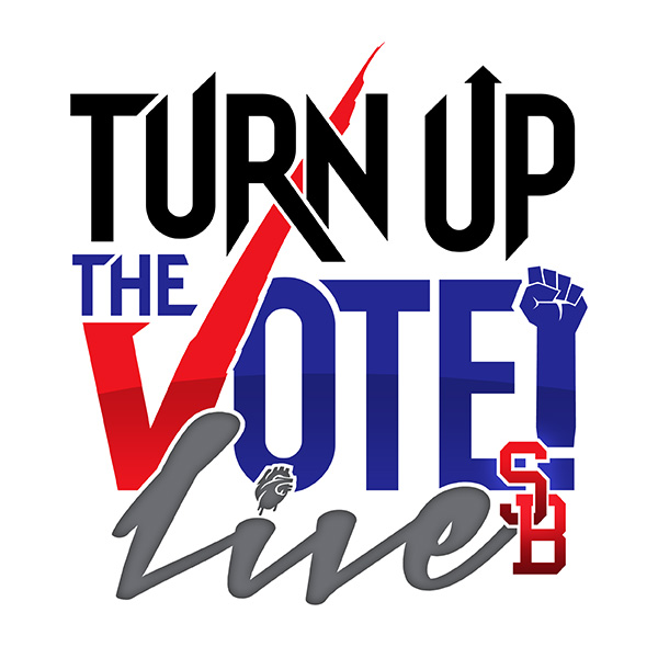 Turn Up The Vote Live SB Logo Design