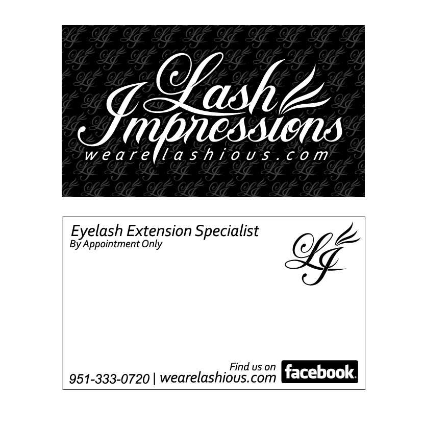 Lash Impressions Business Card Desig