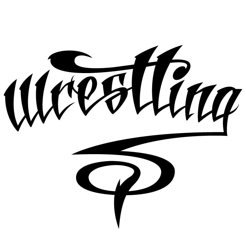 Lettering -Wrestling