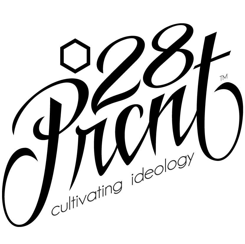 28Prcnt Typeface Logo Design
