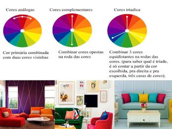 Escolhendo as cores da decoração