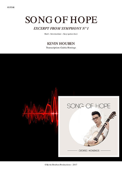 Song of Hope - guitar score + CD