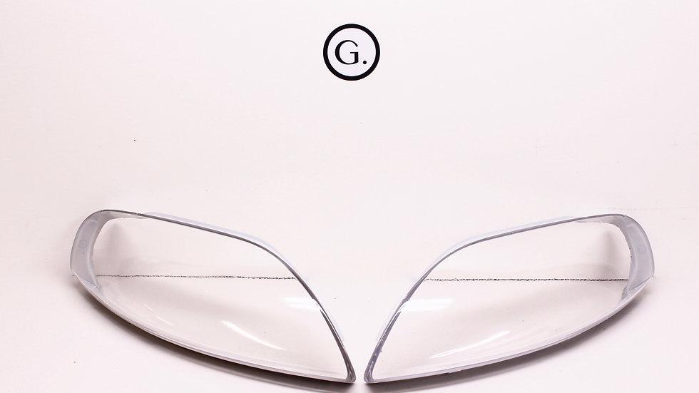 1992-2000 Lexus SC300/SC400 Clear Headlight Lenses (Grey Surround)