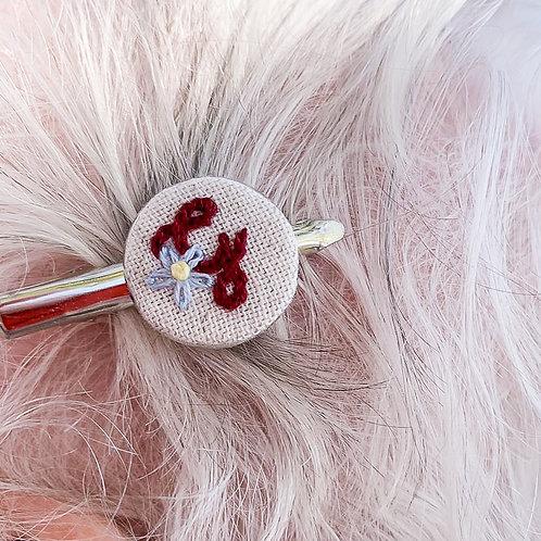 Presilha de cabelo • Ferragem para bordado