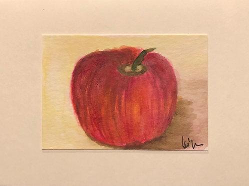My AppleMy Apple  Original Watercolor Greeting Card