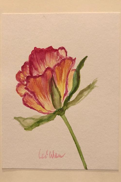 For You, My Love  Original Watercolor Greeting Card