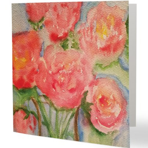 Happy Flower - Square Cards