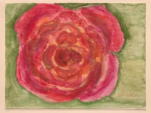 My Rose  Original Watercolor Greeting Card