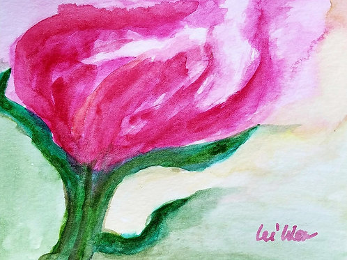 A Wild Flower Original Watercolor Greeting Card