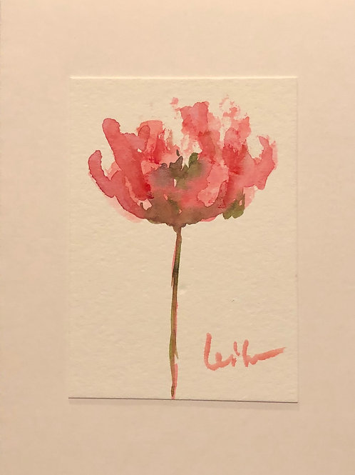 Tranquility  Original Watercolor Greeting Card