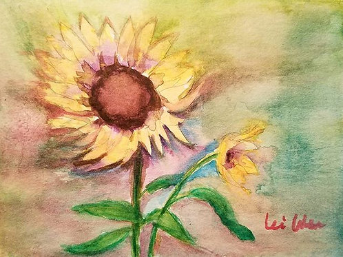 Sunflower print, Blank Greeting cards, all occasion cards, Blank Cards, flower cards,4x5.5, with envelope, Sunflower cards