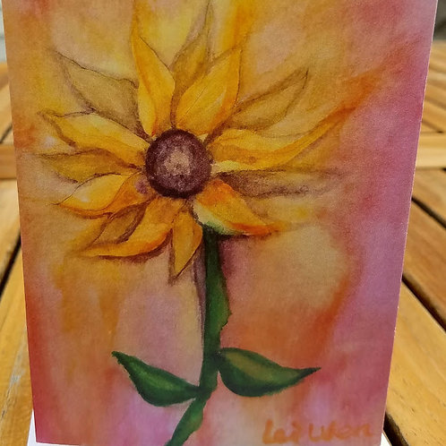 All occasion card, Sunflower print, Blank Greeting cards, Blank Cards, flower cards,4x5.5, with envelope, Sunflower cards, On