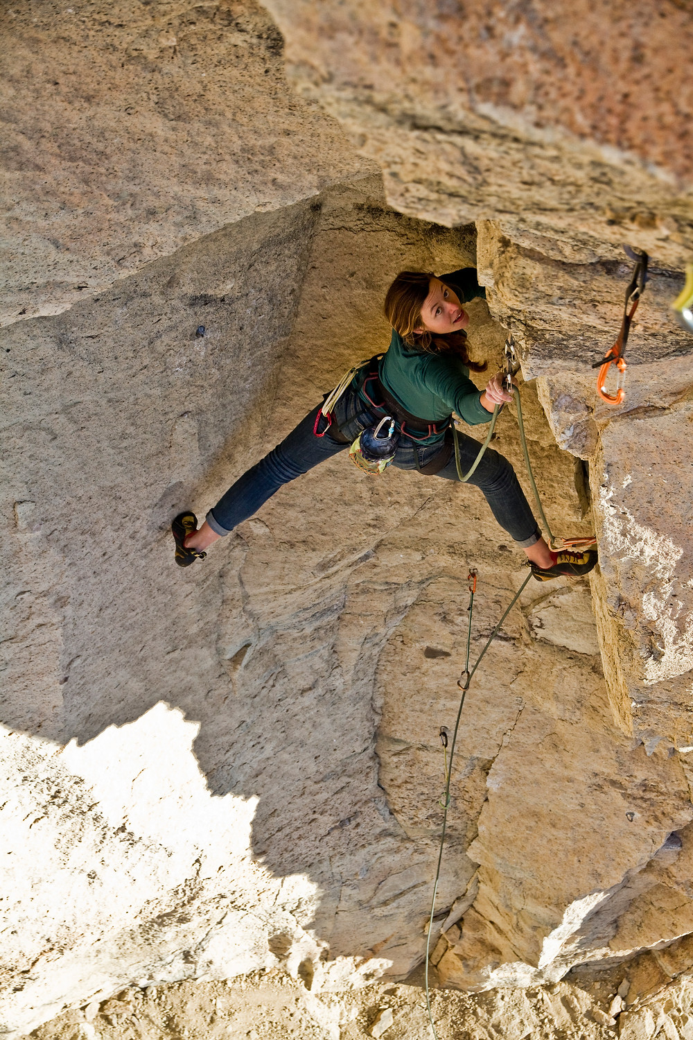 Michele on Lords of Dogtown 12d at Smith Rocks
