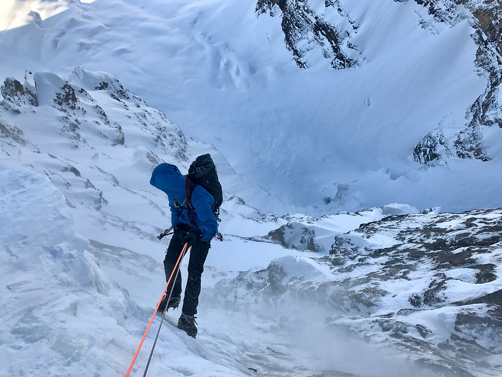 Descending the route