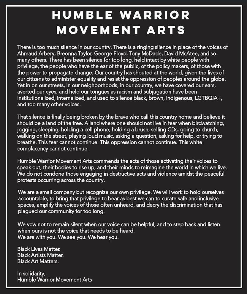 BLM HWMA statement black lives matter.jp