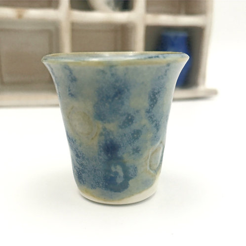 Porcelain Miniature - Blue and Green Moody Mini Planter