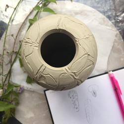 Wisteria Vase creation