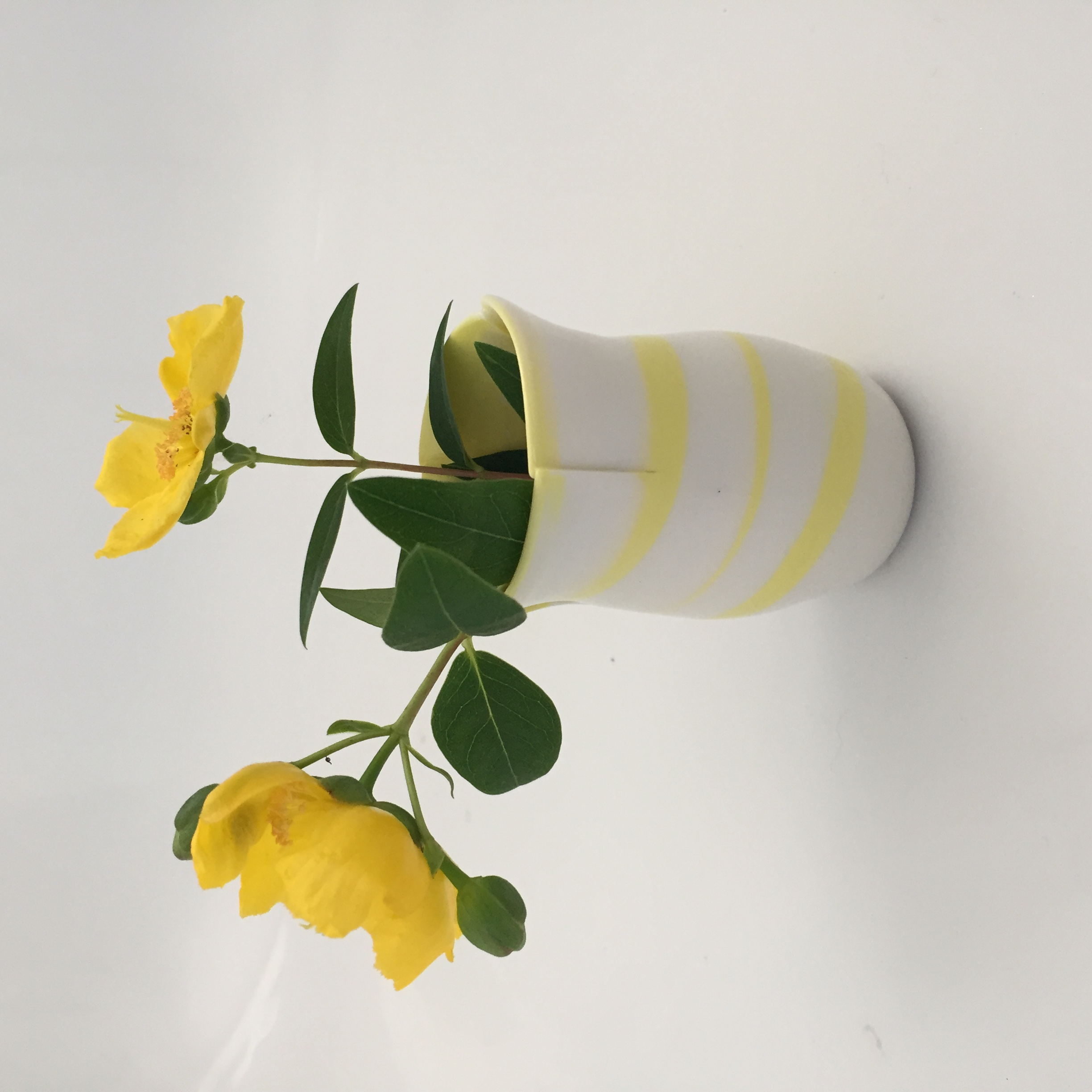 Yellow Porcelain bud Vase
