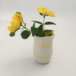 Yellow Porcelain bud Vase