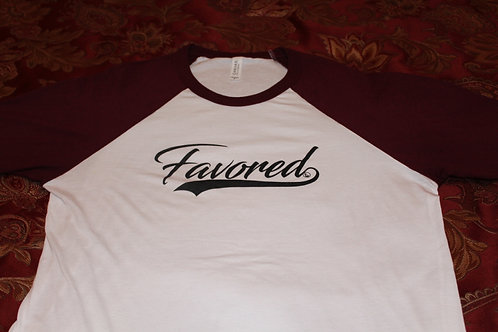 Favored Burgundy Baseball Tee (S-XL)