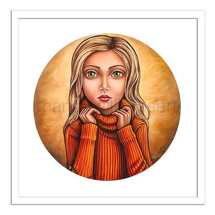 'Golden Girl' Print