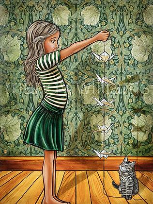 'Origami Birds' Print