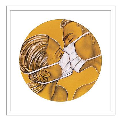 'Covid Kiss' Print