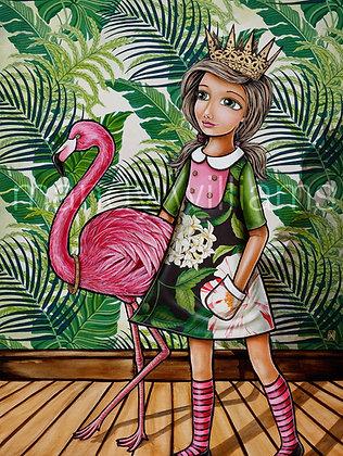 'My Flamingo' Print