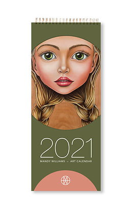 Slimline 2021 Art Calendar