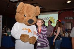 CHEO Bear and his helper