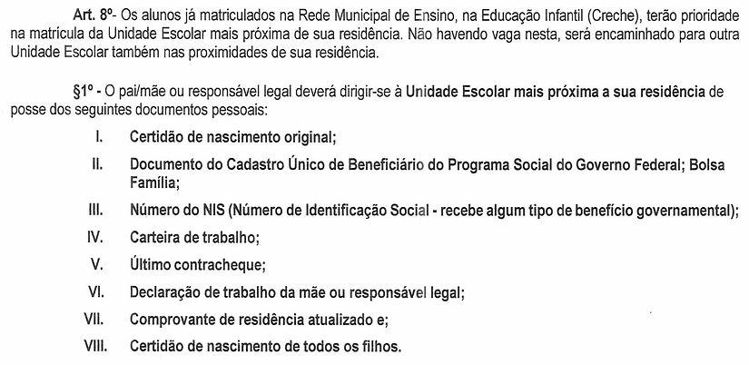 EDITAL SMED Nº 001- 2020  -  MATRÍCULAS-