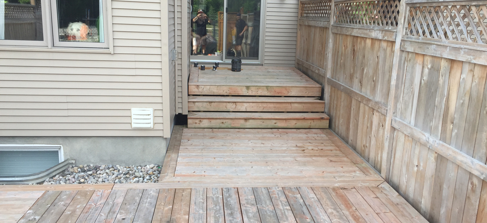 Sarah's Deck and Fence - Autumn Gold
