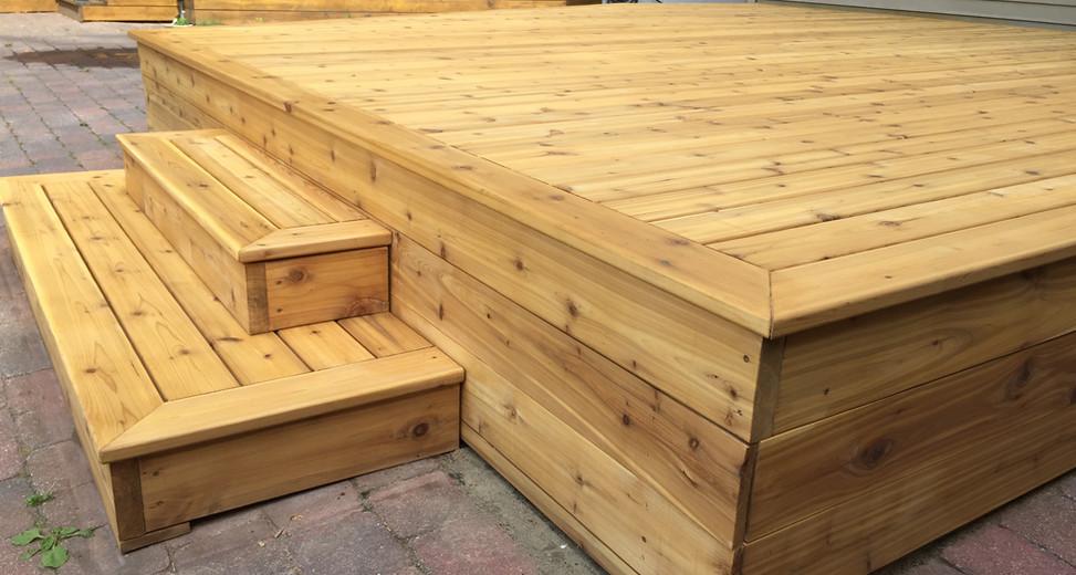 Sanded and Sealed Deck - Light Honey