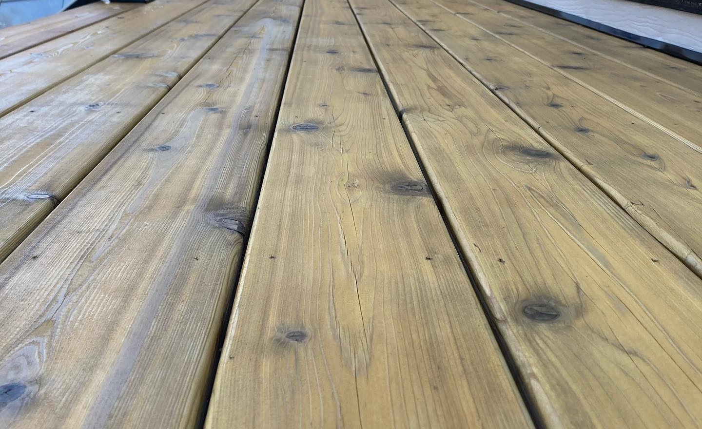 Natural Red Cedar Deck