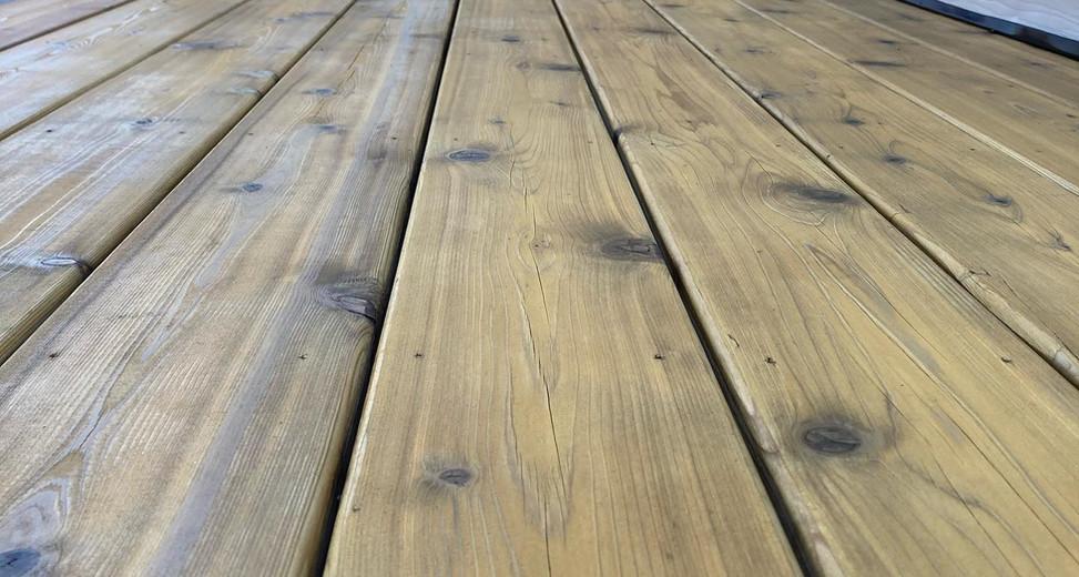 Natural Red Cedar Deck