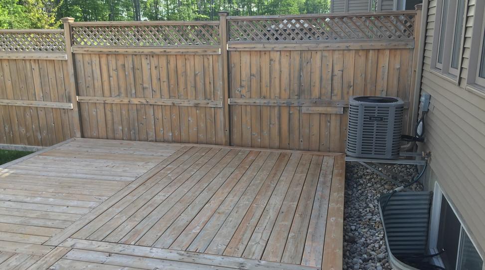 Sarah's Deck and Fence - Autumn Gold